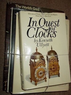 Selection of antique clock books, inc UK postage