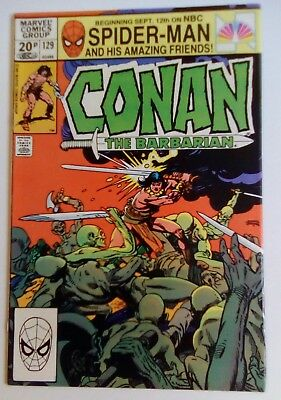 Conan The Barbarian No. 129 Dated December 1981. Gil Kane Art.