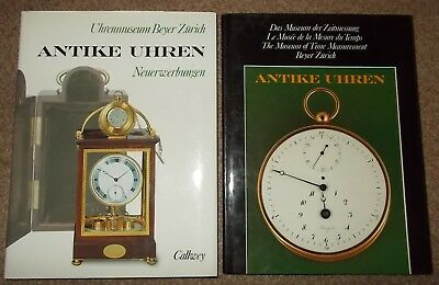 Two Antique Clock Books from Uhrenmuseum Beyer Zurich, inc UK postage