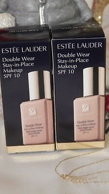Estee Lauder Double Wear Stay in Place Makeup SPF10 3N1   Ivory Beige 2x15ml