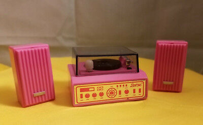 Vintage Barbie Doll Wind Up Working Record Play with Speakers Action Accents