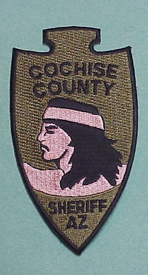Cochise County  Arizona  Az  Subdued ( Indian Left )  Sheriff /   Police Patch