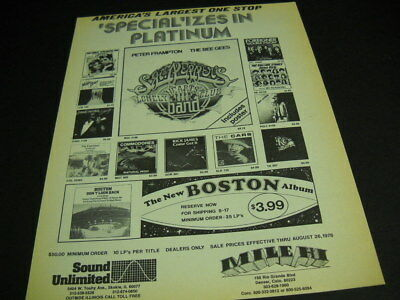 BOSTON The Cars MOODY BLUES Sgt. Pepper's KC Sunshine more 1978 PROMO POSTER AD
