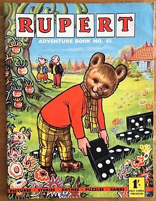 RUPERT Adventure Series No 43 Rupert Adventure Book 1960 FINE JANUARY SALE!