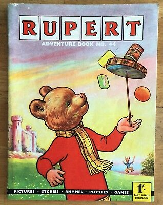 RUPERT Adventure Series No 44 Adventure Book Pub Express 1961 FINE JAN SALE!