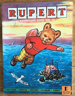 RUPERT Adventure Series No 45 Adventure Book Pub Express Nov 1961 FINE JAN SALE!