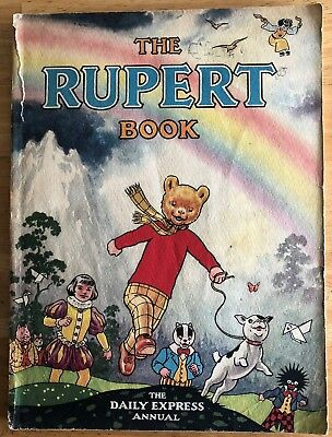 RUPERT ANNUAL RUPERT BEAR 1948 Inscribed NOT Price clipped G/VG