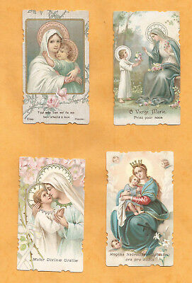 LOT 4 mages PIEUSES HOLY CARD JESUS MARIE NOTRE DAME