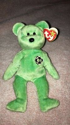67dbcd5bef4 Ty Beanie Babies KICKS The Bear Collectors Tag Errors.1998 NWMT Retired Rare  New