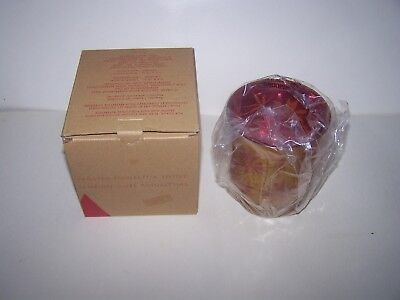 New Avon 2008 Frosted Poinsettia Votive Candle Holder New  In The  Box 2008