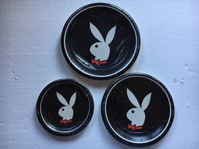 Vintage Playboy Bunny Logo Party Plates New Sealed 1980's Lot Of 24 NOS