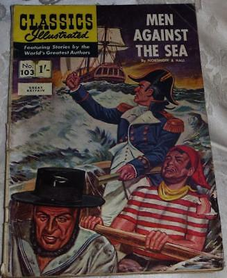 1959 Classics Illustrated No.103 Men against the sea see both images