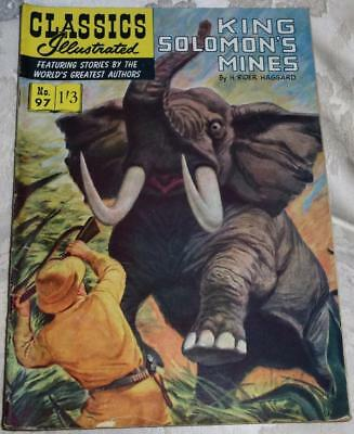 Classics Illustrated - Kings Solomons mines No.97 good condition see both images