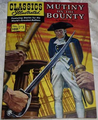 Classics Illustrated No.100 Mutiny on the Bounty see both images