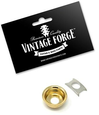 Gold Output Cup Jack Plate Ferrule For Fender Telecaster Tele Guitar *new*