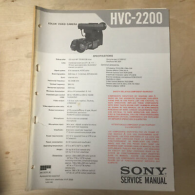 Sony Service Manual for the HVC-2200 Video Camera Repair