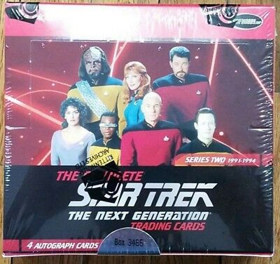 Rittenhouse THE COMPLETE STAR TREK THE NEXT GENERATION SERIES 2 TRADING CARD BOX