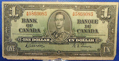 CANADA 1 dollar 1937 Gordon-Towers Prefix A/M #41