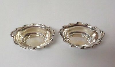 Pair Whiting Mfg. Sterling Silver Nut Dishes #6699, 45 grams
