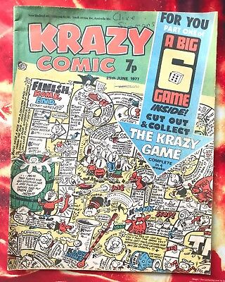 Krazy Comic. 25 June  1977.  Lovely Condition. See Photos.