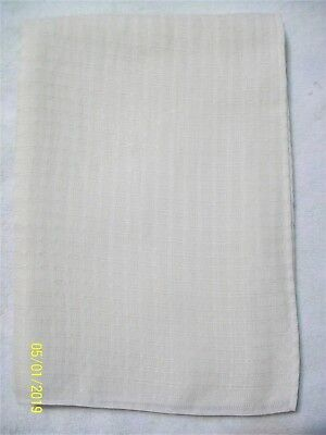 "Ivory White Rectangular Synthetic Tablecloth  - 60"" x 82"" - Vintage"