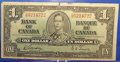CANADA 1 dollar 1937 Gordon-Towers Prefix C/M #52