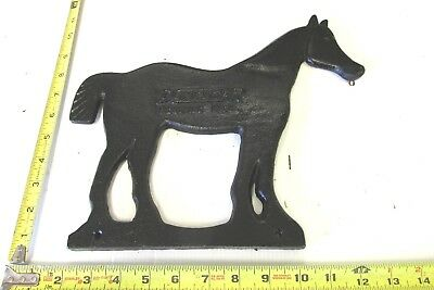 Cast Iron Black Dempster Windmill Co  Beatrice Nebraska Horse Weight