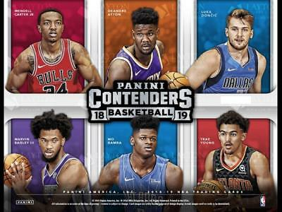 2018-19 Panini Contenders NBA Inserts (Retail and Hobby) Pick From List