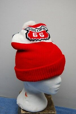 Vintage Phillips 66 Oil / Gas Station Employee Winter Stocking Cap Hat