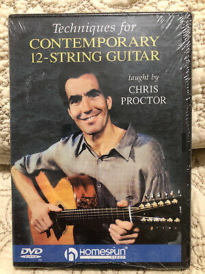 TECHNIQUES FOR CONTEMPORARY 12-STRING GUITAR taught by CHRIS PROCTOR DVD Sealed