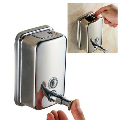 Action Wall Mounted Soap Shampoo Dispenser Shower Bathroom Lotion Gel Stainless