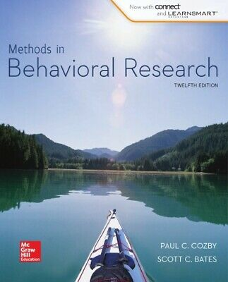 Methods in Behavioral Research 12th Edition by P. Cozby, S. Bates [PDF]