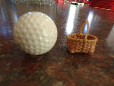 Vintage Miniature American Indian Hand Woven Basket VERY SMALL Minty
