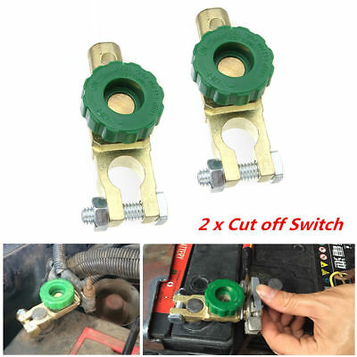 2Pcs Car Battery Link Terminal Quick Cut-off Disconnect Master Kill Shut Switch
