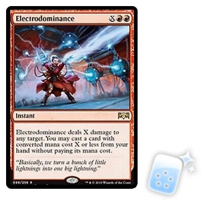 ELECTRODOMINANCE Ravnica Allegiance RNA Magic MTG MINT CARD