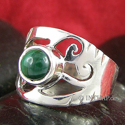Ring 925 Sterling Silber - Silberring mit Malachit - Damenring Fingerring In1-3