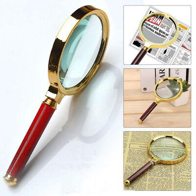 Classic 10X Magnifier Magnifying Glass 60mm Handheld Jewelry Loupe Reading UK