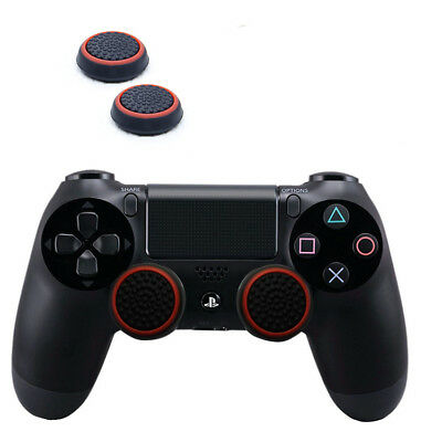 2Pc Silicone Thumb Stick Grip Cover Caps for Sony PS4 + PS3 Analogue Controller