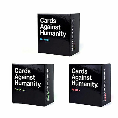 Cards Against Humanity UK Expansion Box (Red, Blue,Green) Brand New Adult Party-