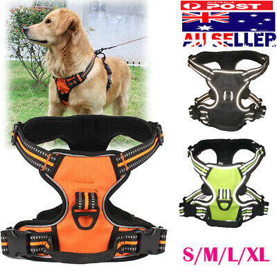No-pull Dog Pet Harness Reflective Outdoor Adventure Pet Vest Padded Handle 3M