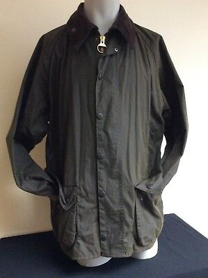 Classic Beaufort Mens Barbour Jacket Olive Green  Size C42 / 107cm