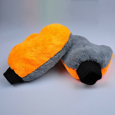 Double-sided Coral Fleece Car Auto Wash Glove Cleaning Mitt Washing Brush Cloth