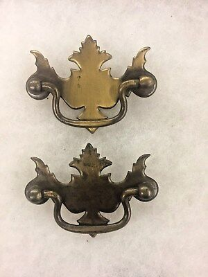 """2 Drawer Pulls 2-1/2"""" Center To Center Chippendale Batwing Style #36"""