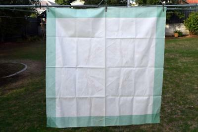 Unworked Vintage SEMCO Tablecloth - Embroidery 109cm x 109cm & Cotton - Cherries