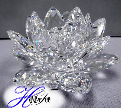 Waterlily Clear Crystal Candle Holder Small 2014 Swarovski Crystal #5084103