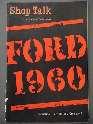 Booklet - Shop Talk, FORD 1960, pictures all the Ford offerings for that year.