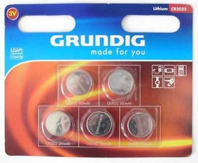 50 x Original Grundig CR2032 Knopfzelle 3V Lithium CR 2032