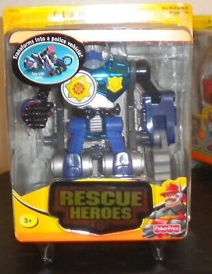 New 2002* Fisher Price Rescue Heroes Robo Team Clamp Down