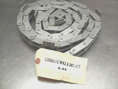 "qty 102"" - Renold Conveyor Roller Chain C2060HSC  w/K2 & SK1 Attachment, NEW"