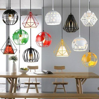 Modern Industrial Cage Pendant Light Earth Lamp Vintage Iron chandelier